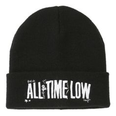 All Time Low Logo Watchman Beanie | Hot Topic ($13) ❤ liked on Polyvore featuring accessories, hats, beanies, bands, logo hats, logo beanie, band hats, beanie hats and logo beanie hats