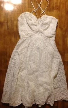 eb454b682b7 BEAUTIFUL Women s Calvin Klein White Lacey Dress Sz 6 Sundress  CalvinKlein   Sundress  Cocktail