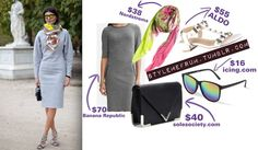 Do you love this outfit as much as I do? Gray and Neon.. you can't go wrong!