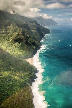 Hawaii -een van de nog onbedorven kusten van de eilandengroep
