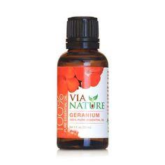 Via Nature Essential Oil 100% Pure Geranium (1x1 Fl Oz)