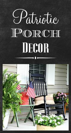 Fun patriotic porch ideas for summer and the 4th of July.
