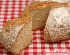 Öt perc a munka, harminc perc sütés, és már ott gőzölög az asztalon az írek mesés kenyere! Nagyon jó kis aduász arra az esetre is, ha elfogy a kenyér, vagy nincs kedvünk boltba menni, mert vacak az idő.     Nem egyszer találkoztam már a dagasztás nélküli kenyérrel különböző blogokon, de megmondom őszintén… Hungarian Cuisine, Hungarian Recipes, Hungarian Food, Baking And Pastry, How To Make Bread, Bakery, Kenya, Good Food, Goodies
