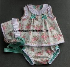 TODO EN PIQUE para bebe Baby Girl Fashion, Kids Fashion, Toddler Outfits, Kids Outfits, Baby Gifts To Make, Frock Design, Baby Sewing Projects, Smocks, Chic Baby