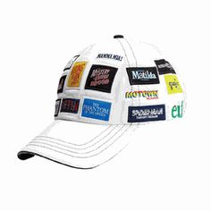 Can�t make up your mind which show cap to wear? Why choose when you can wear one cap with more than 20 of your favorite Broadway musical logos embroidered all around it? Our new light stone-colored cap is one-size-fits-all. $25