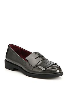 Marc by Marc Jacobs Wooster Leather Fringe Loafers