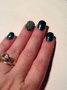 Green base with green/silver micro beads