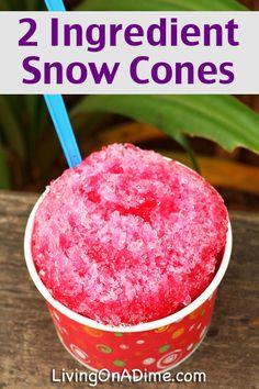 Easy 2 Ingredient Snow Cones Recipe
