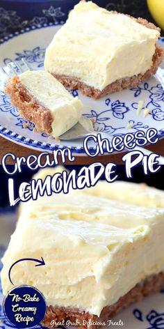 Cream Cheese Lemonade Pie, Pie Dessert, Eat Dessert First, Easy Desserts, Delicious Desserts, Baking Recipes, Easy Banana Cream Pie, Dinner Recipes, Dessert Recipes