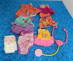 Baby Alive Lot of 6 Doll Clothes & 1 diaper GREAT CONDITION Baby Blonde Hair, Blonde Babies, Baby Alive Doll Clothes, Baby Alive Dolls, African American Baby Dolls, American Girl, Birthday List, 10th Birthday, Boy Doll