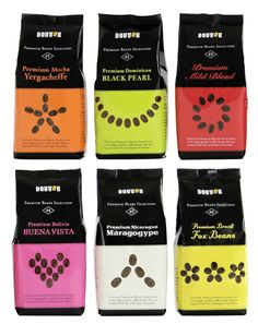 bright, contemporary coffee package