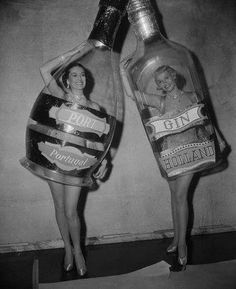 Dancing liquor bottles.