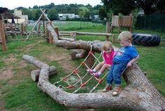 LOVE! design the playground around the natural landscape, for the lanscape is in itself a playground :)