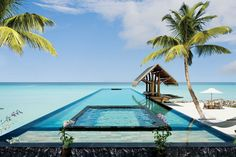 The 15 Most Beautiful Hotel Pools : Architectural Digest. One Reethi Rah, Maldives.