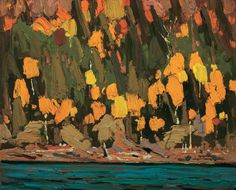 Tom Thomson, Birches and Cedars, Fall, 1915