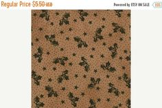 SPRING CLEANING Seasonal Little Gatherings Moda 1066 31 Holly Leaves on Tan Fabric