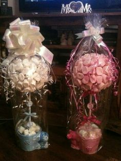 Baby shower gifts - could make diaper or onsie topiaries
