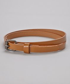 Take a look at this Tan Skinny Belt by Delightfully Preppy Kids on #zulily today!