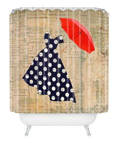 Take+a+look+at+the+Red+Umbrella+Shower+Curtain+on+#zulily+today!