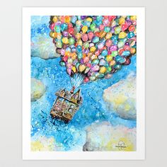 Up Art Print by Tricia Kibler - $24.96