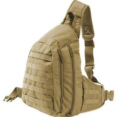 Outdoors Sling Pack w/ Waist Strap, Compact Hike Run Bag Tactical Molle Backpack Green Shoulder Bags, Shoulder Backpack, Molle Backpack, Tactical Backpack, Survival Equipment, Survival Gear, Military Gear, Military Army, Hunting Bags