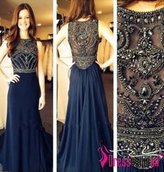Cheap dress for less prom dresses, Buy Quality dresses japan directly from China dress up girl game Suppliers: vestido de festa O Neck Beading Long A Line Long Chiffon Evening Dresses Prom Party Gown 2014 New Fashion Welcom Prom Dress 2014, Beaded Prom Dress, Homecoming Dresses, Dresses 2014, Prom Gowns, Beaded Chiffon, Beaded Gown, Quinceanera Dresses, Rhinestone Dress