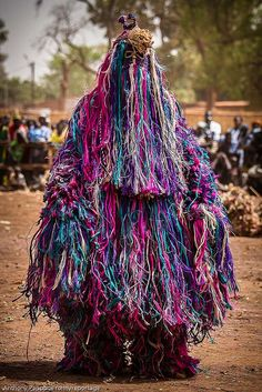 People gather from 40 villages to participate in Festima (Festival des Masques de Dédougou), a festival of masks held every two years in Dédougou, Burkina Faso.