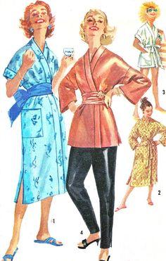 1950s Simplicity 1840 Womens Kimono Sleeve Wrap by paneenjerez, $18.00