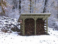 Woodshed in the Winter by Neuheimer,
