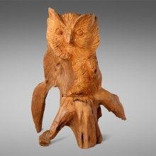 Uil van hout