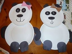 - Would be great for the Reading St. Unit- Little Panda! Use small paper plates. Cut out different colored bows; girl pandas in the hair, boy pandas will have bow ties. **pre-cut appendage shapes, let them use markers to draw their own faces. **leave green paper for bamboo (for advanced kindergarteners needing an extra step)