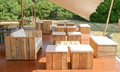 Pallet Outdoor Seating Arrangement