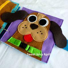 Buckle the Dog Collar Quiet Book Page van SweetJuicyApril op Etsy