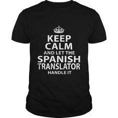 SPANISH TRANSLATOR T-Shirts, Hoodies. BUY IT NOW ==► https://www.sunfrog.com/LifeStyle/SPANISH-TRANSLATOR-119183067-Black-Guys.html?id=41382