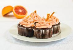 Blood Orange Chocolate Cupcakes