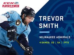 Admirals' Smith named CCM/AHL Player of the Week | TheAHL.com | The American Hockey League