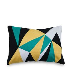 Facets Embroidered Cushion 35x50cm