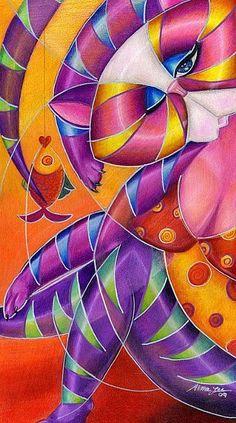 Art: Kitty A. Lure by Artist Alma Lee