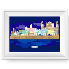 Cádiz #graphicdesign #geometric #color #city
