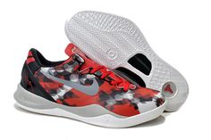 """Nike Zoom Kobe Viii 8 """"Milk Snake"""" University Red Sail Noble Red Pearl Grey Colorways"""
