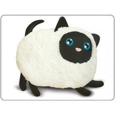 """Speakers """"Kat"""" Deze schattige kat is een kussen, knuffel en passieve luidspreker."""