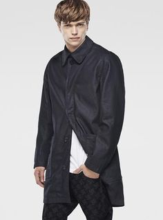 RAW FOR THE OCEANS -  A-CROTCH TRENCH COAT/ G-Star Raw / Curated By Pharrell Williams /Denim from recycled ocean plastic