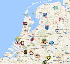 Eredivisie Map