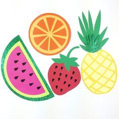Tutti Fruitti Glitter Fruit Banner