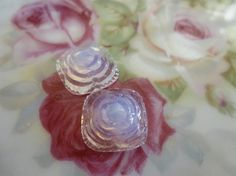 1 Vintage Graduated White Opal Rose 16 x by FindingYourElement