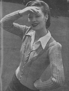#Vintage 1944 #knitting pattern for a ladies cardigan http://etsy.me/1bGhify