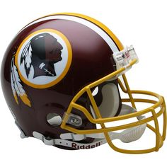 Washington Redskins Riddell Full Size Authentic NFL Pro Football Helmet - New in Riddell Box The ultimate football helmet collectible! The on-field helmet worn Redskins Helmet, Redskins Logo, Redskins Football, Redskins Fans, Football Helmets, Broncos, Washington Redskins, Washington Dc, American Football