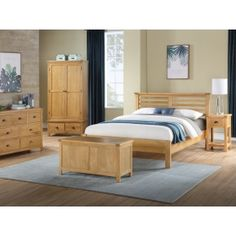 Oak Double Bed, Double Beds, Oak Bedroom, French Oak, Indoor Air Quality, Bed Sizes, Types Of Wood, Bed Design, Kids Furniture