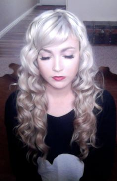 beautiful retro curls with the NuMe reverse curling iron