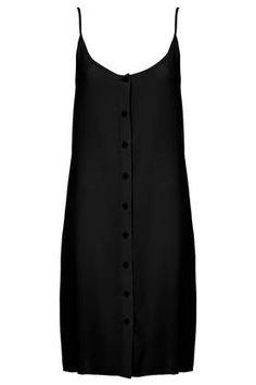 Button Silk Slip Dress by Boutique